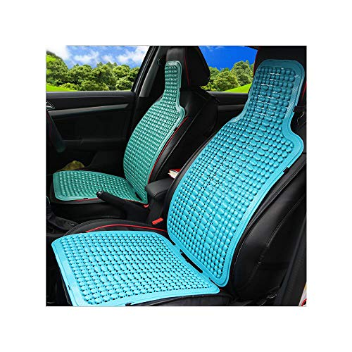DaDong Auto Sommer Cool Pad, ABS Kunststoff Atmungsaktiv Komfortable Sitz Universal Kissenbezug Kühltemperatur Fahrzeug Fahrzeug/Bürostuhl/Sofa,Blue