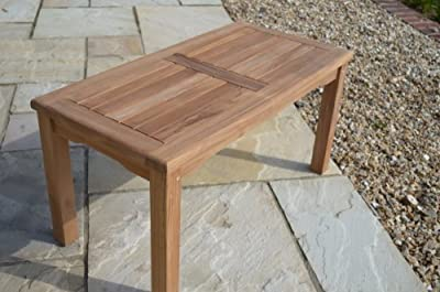 Malmesbury- Solid Teak - 90x45cm Rectangular Coffee Table