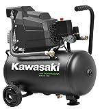 Kawasaki Kompressor, Luftkompressor Werkstatt, fahrbar, 1100W, 8 Bar, Induktionsmotor, 220V, 24L Tank, Ansaugleistung 165 l/min
