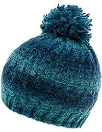 Fiebig Bonnet En Tricot Fille À Pompon Chapeau De Promenade D Hiver Calotte  Mélange Pour Enfants (FI-54678-W16-MA2) incl. 416a62a8735