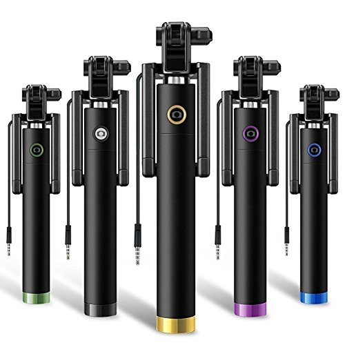 Unifree Compact Pocket Size Selfie Stick Wired for iPhone and...