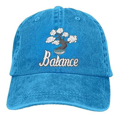 (Vidmkeo Men Women Adjustable Cotton Denim Baseball Caps Japanese Bonsai Tree Hiphop Cap Unisex18)