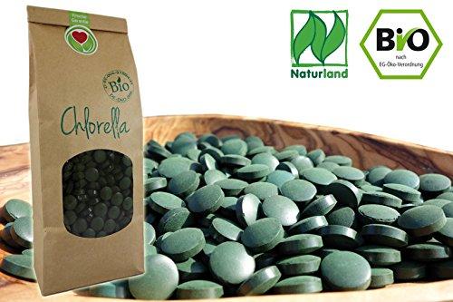Naturherz Bio Chlorella 250 St.  Naturland-zertifizierte Presslinge 400mg (100 g)