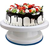 One Stop Shop Round Rotating Revolving Cake Turntable Decorating Stand Platform ,Multicolor