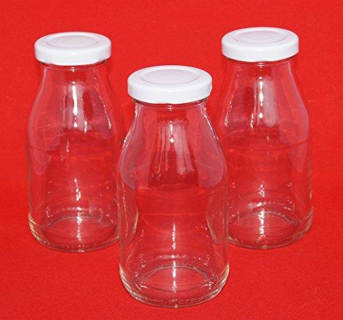 20 botellas de vidrio 20 unidades 200 ml pequeñas botellas de leche d