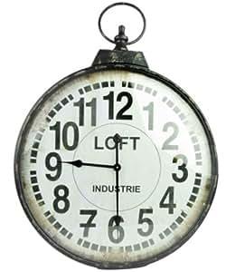 Horloge industrielle loft