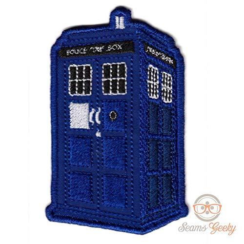 LipaLipaNa Doctor Who Patch - Tardis Police Box - bestickte Sci-Fi-Patches zum Aufbügeln von Applique-Souvenirs (Doctor Who-tardis-patch)