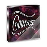 Best Made Courage - Courage Burgandy Swirls Acrylic Office Mini Desk Plaque Review