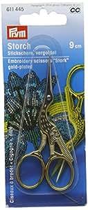 Stick Schere Storch vergoldet 9 cm