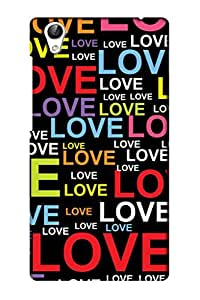 AMAN Love Name Pattern 3D Back Cover for Vivo Y51L