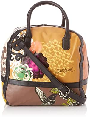 Desigual Bols Cut Bag Tricolor, Sac porté main - Marron (6049), Taille Unique