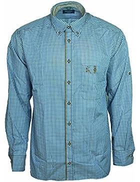 Eterna Herrenhemd Herren Hemd Trachtenhemd Freizeithemd Langarm Comfort Fit Blau Weiß kariert Gr. XXXL/48