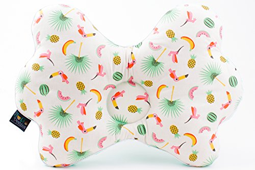 JoGo-Designs® orthopädisches Babykissen gegen Plattkopf. Mit Kinderärztin entwickeltes Babykopfkissen gegen Plagiozephalie, Schiefschädel-Kopfform. Vorbeugung & Korrektur von Schädel-Verformung