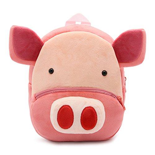nd Kinder Rucksack Plüsch Tier Cartoon Mini Kinder Tasche für Baby Mädchen Junge Alter 1-3 Jahre - Schwein (Schwein 2)