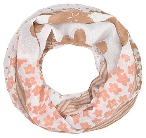 wunderschöner Paisley Loopschal grau rosee Damen Loop Schal