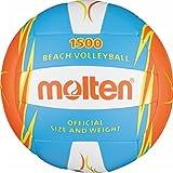 Freizeitball, weiches Synthetik-Leder, maschinengenäht - Farbe: Blau/Orange/Weiß, Größe: 5