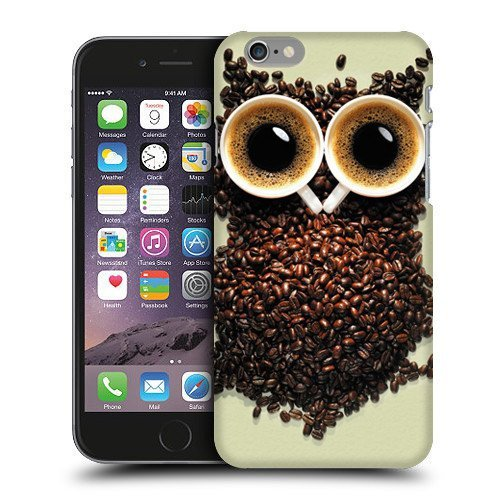 Case Fun Coffee Bean Owl Snap-on Hard Back Case Cover for Apple iPhone 6 (4.7 inch)