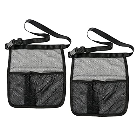 Car Back Seat Organizer Pocket Storage Tuck Mesh Net String Bag Phone Holder, Universal Cars Trunk Organizer for Luggage Snacks Small Toy or Other Pieces Thing (2