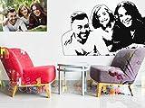 Gruppen Portrait | Wandtattoo | 100% individuell nach Foto Vorlage | Wunschtext | Geschenk | Wohnzimmer | Deko