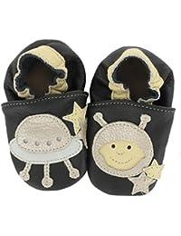 c3bec2b5b2629 Chaussures premiers pas Chaussons Bébé en cuir doux HOBEA-Germany -  unicolore