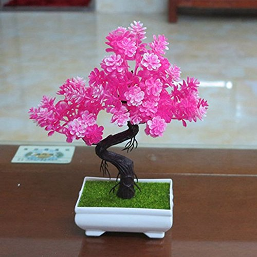 Generic 1pc/lot small bonsai plants artificial flower potted bonsai ...