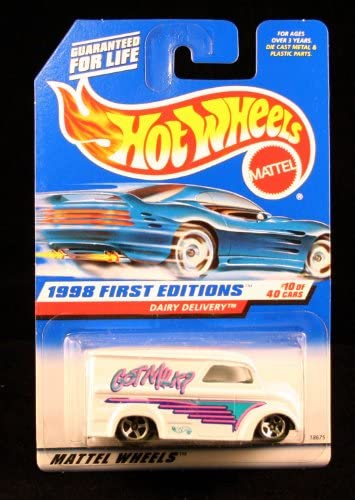 DAIRY DELIVERY  GOT MILK  FIRST EDITIONS SERIES 10 of 40 HOT WHEELS 1998 Basic Car 1:64 Scale Series  Collector 645  by Mattel (English Femmeual) | La Mode De