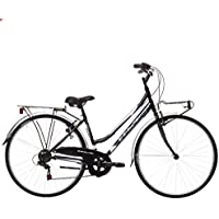 Bikevolution - Bicicleta urbana para mujer, ruedas de 28 pulgadas, 6 velocidades, mujer, 44