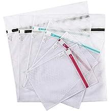 Eono Essentials Sac à Linge - Paquet de 6 (2XL+2L+2M) Filet à Linge, Filet de Lavage, Sacs à Linge Avec Fermeture Eclair, Sac à Linge Pour machine à Laver, pour blouse, bas, soutien-gorge, lingerie