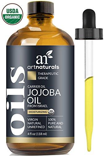ArtNaturals Kaltgepresstes Organisches Feuchtigkeitsspendendes Jojobaöl - (4 Fl Oz / 120ml) - mit Bonus Set - Ideal als Massageöl oder Trägeröl - Ausgesprochen Hautverträglich