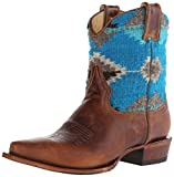 Stetson Women s Morning Star Serape Short Cowgirl Boot Snip Toe Brown 10 B(M) US
