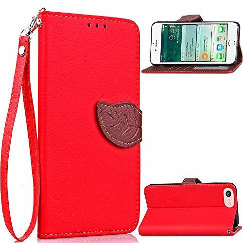 IPhone Case Cover Blatt Magnetverschluss Muster PU Lederner Kasten Mappen Standplatz