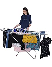 LiMETRO STEEL Stainless Steel Foldable Cloth Dryer Stand Do