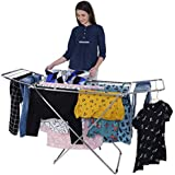 LiMETRO STEEL Stainless Steel Foldable Cloth Dryer Stand Double Rack
