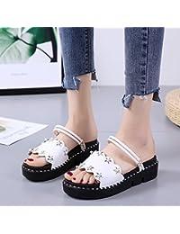 GAOLIM La Primavera Y El Verano Suave Hermana Sandalias Calzado Casual Zapatos Zapatos De Mujer Vistiendo Un Dos-Toe...