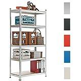 CLP Estantería galvanizada, metal, carga máx: 875 kg plateado, 180 x 90 x 40 cm