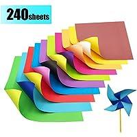 Papel Origami - 240 Hojas de Origami Papel de Papiroflexia Colores para DIY Manualidades Proyectos
