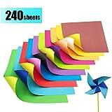 Origami Papier Zweifarbig - 240 Blatt Faltpapier Bastelpapier Kontrastfarben Faltblätter