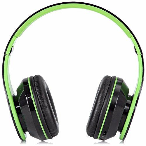 Faltbare Kabellose Bluetooth-Over-Ear Stereo Kopfhörer Headset Unterstützt TF Karte, grün (Bluetooth-stereo-kopfhörer-boom)