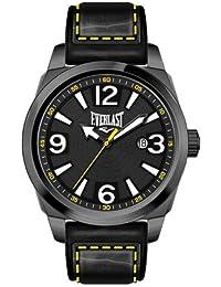 Bernex EV-215-004 - Reloj analógico para caballero de cuero Resistente al agua gris