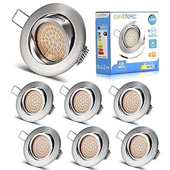 6 packs led recessed ceiling light gr4tec downlight. Black Bedroom Furniture Sets. Home Design Ideas