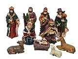 #5: Dungri® Christmas Nativity Set 7 Crib Set Decoration Baby Jesus