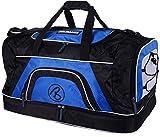 Brubaker ' Big Base ' XXL Borsa Sportiva 90 L con Ampio Scomparto sul Fondo per Gli Indumenti umidi + vano Scarpe - Blu