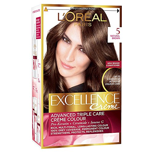 Triple Care Creme (3 x L'Oreal Paris Excellence Creme Triple Care Creme Colour 5 Natural Brown)