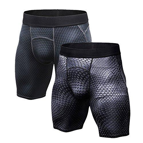 Fablight da uomo a compressione pantaloncini pantaloni Cool Dry comfort Fit sport collant leggings Set A