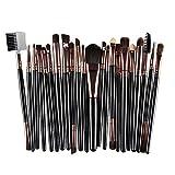 Make Up Pinsel Set,Cooljun 22pcs Hölzern Professionelles Augenbrauen Schminkpinsel Kosmetikpinsel Lidschatten Gesichtspinsel Eyeliner Foundation Blush (Schwarz)