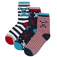 Zest Boys Cotton Rich Socks 3 Pack Skull 9-12