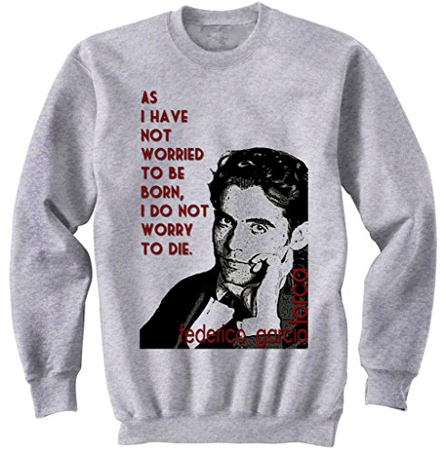 Teesquare1st Men's FEDERICO GARCIA LORCA Grey Sweatshirt