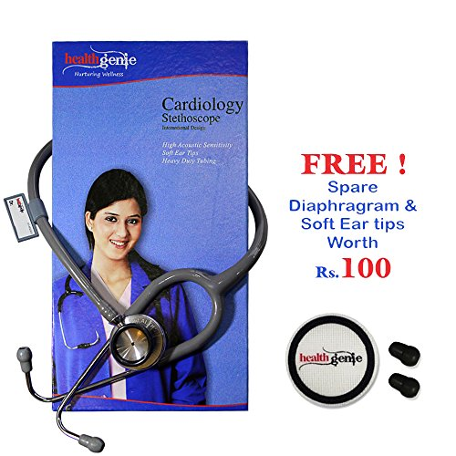 Healthgenie HG-301G Doctors Dual Stainless Steel Stethoscope (Gray)