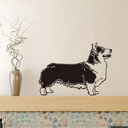 Wandsticker Pembroke Dog Vinyl DIY Wandaufkleber Pet Shop Lustige Tapete Abnehmbare Schlafzimmer Kunst Wandtattoo Wohnkultur 43X60 cm