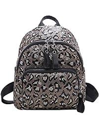 snowvirtuos Sequins Leopard Backpack Satchel Women Travel Shoulder Bags  School Book Bag 1d6ec7570119f